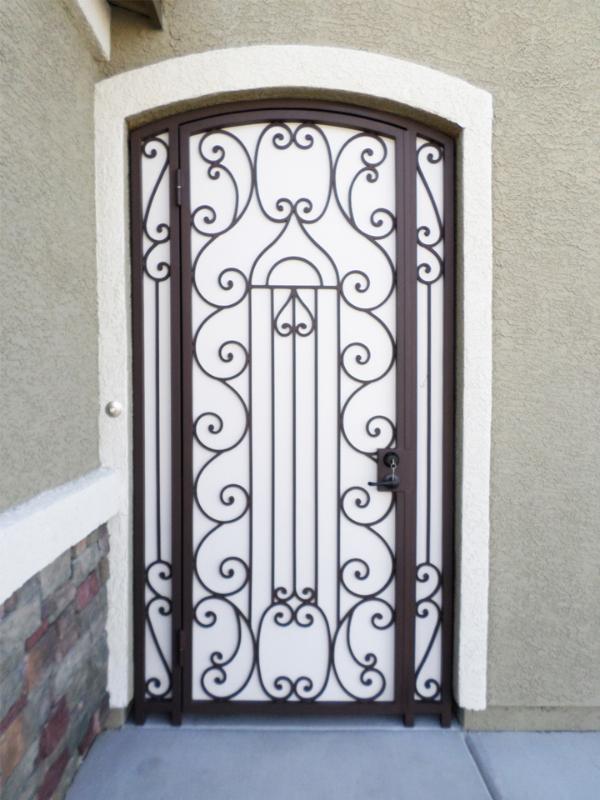 Scrollwork Duchess Entryway Door - Item EW0341 Wrought Iron Design In Las Vegas