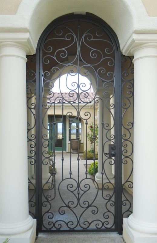 Scrollwork Duchess Entryway Door - Item EW0518 Wrought Iron Design In Las Vegas