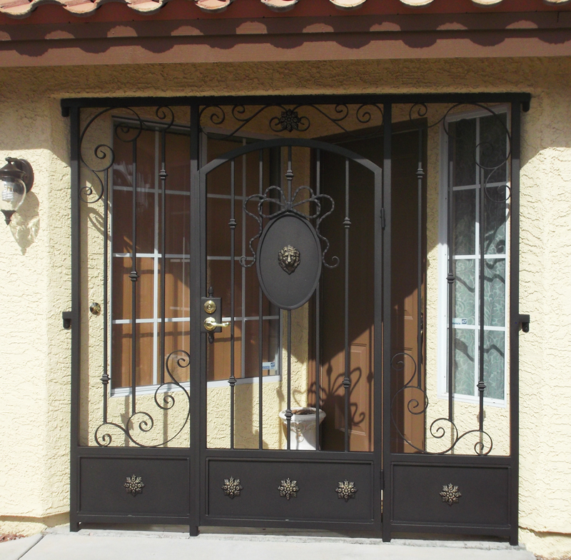 Scrollwork Edinburgh Entryway Door - Item EW0149B Wrought Iron Design In Las Vegas
