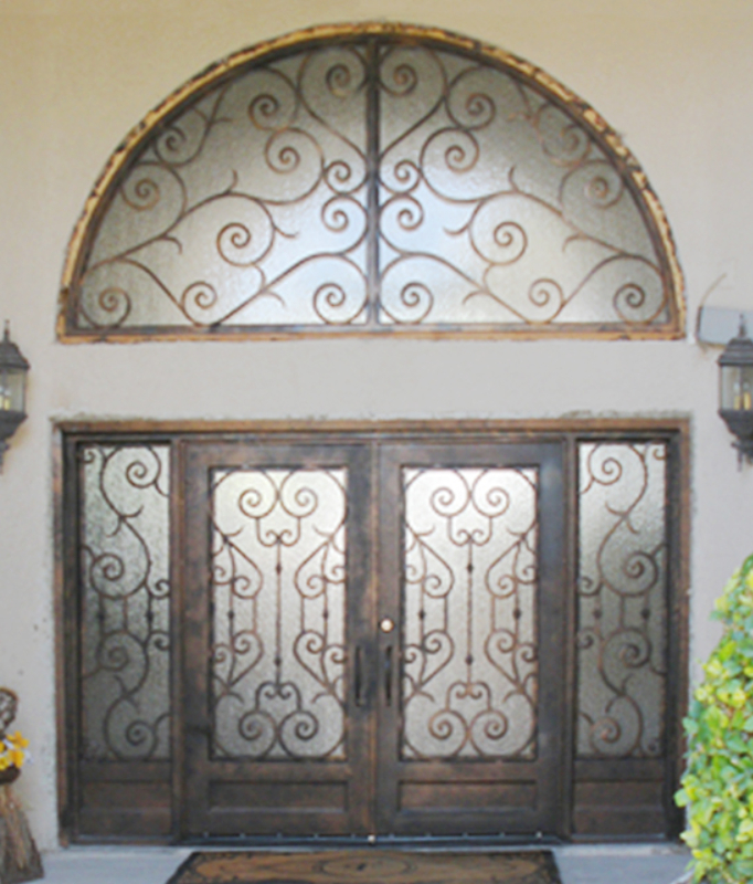 Scrollwork Front Door - Item Biscay GE0034 Wrought Iron Design In Las Vegas