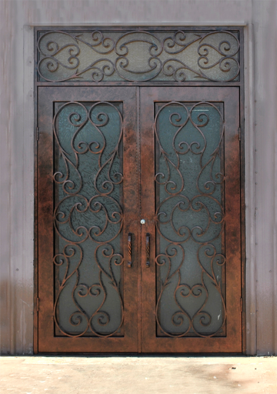 Scrollwork Front Door - Item Biscay GE0164 Wrought Iron Design In Las Vegas