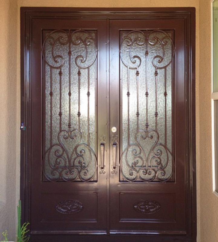 Scrollwork Front Door - Item Cappella GE0179 Wrought Iron Design In Las Vegas
