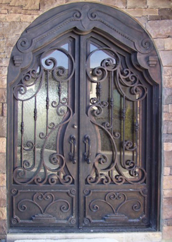 Scrollwork Front Door - Item Dauphine GE0113 Wrought Iron Design In Las Vegas