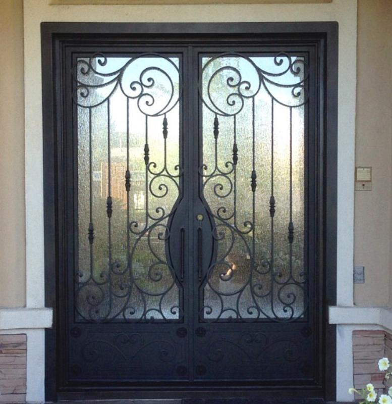 Scrollwork Front Door - Item Dauphine GE0178 Wrought Iron Design In Las Vegas
