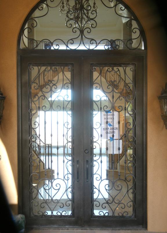 Scrollwork Front Door - Item Duchess GE0014 Wrought Iron Design In Las Vegas