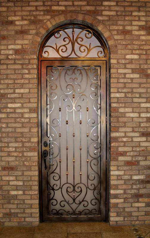 Scrollwork Front Door - Item Duchess GE0138 Wrought Iron Design In Las Vegas