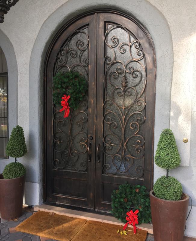 Scrollwork Front Door - Item Genesis GE0057 Wrought Iron Design In Las Vegas