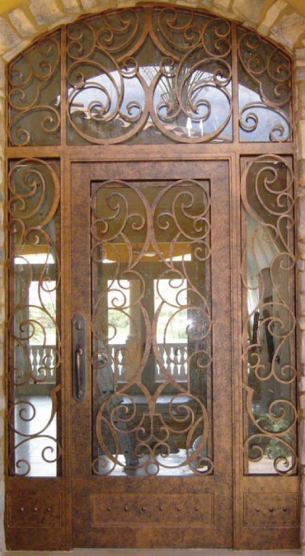 Scrollwork Front Door - Item Glasgow GE0011 Wrought Iron Design In Las Vegas