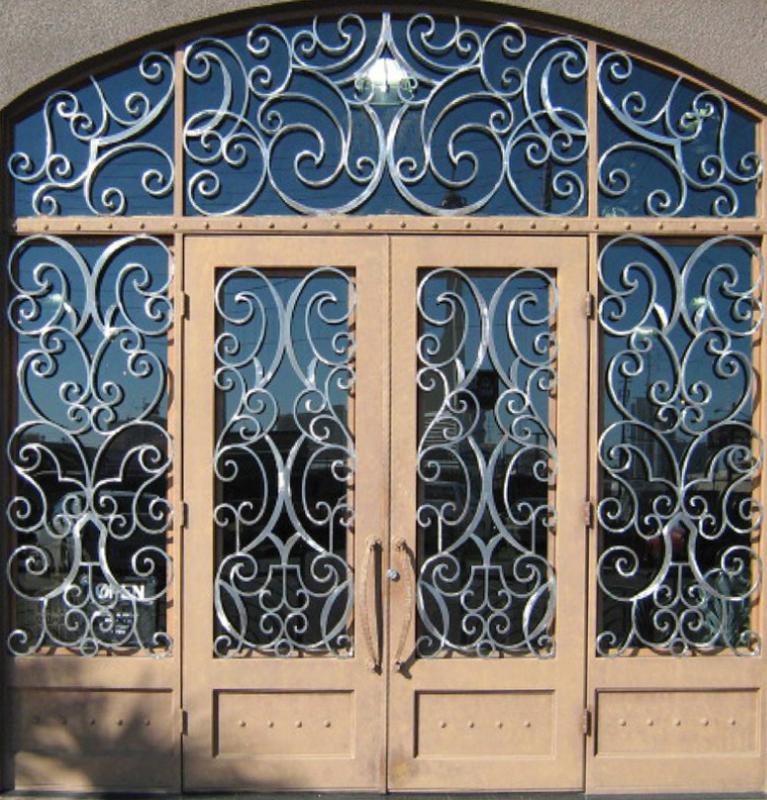 Scrollwork Front Door - Item Glasgow GE0024 Wrought Iron Design In Las Vegas