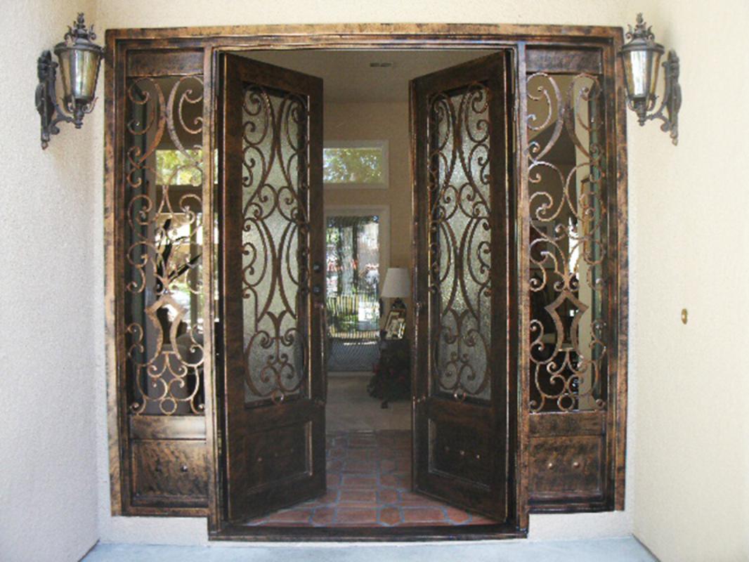 Scrollwork Front Door - Item Glasgow GE0055 Wrought Iron Design In Las Vegas