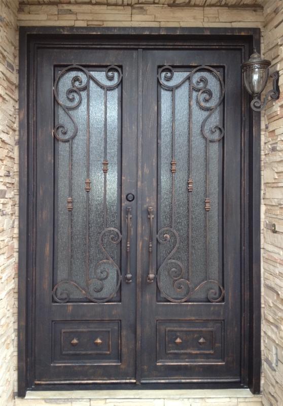Scrollwork Front Door - Item Melodia GE0062 Wrought Iron Design In Las Vegas