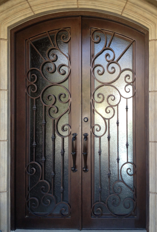 Scrollwork Front Door - Item Melodia GE0091 Wrought Iron Design In Las Vegas