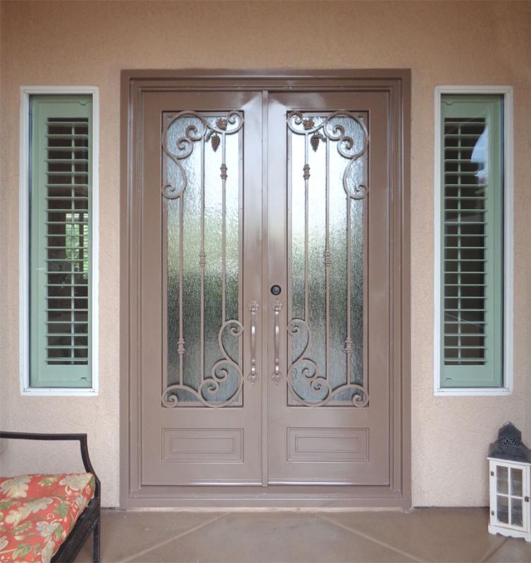 Scrollwork Front Door - Item Melodia GE0188 Wrought Iron Design In Las Vegas