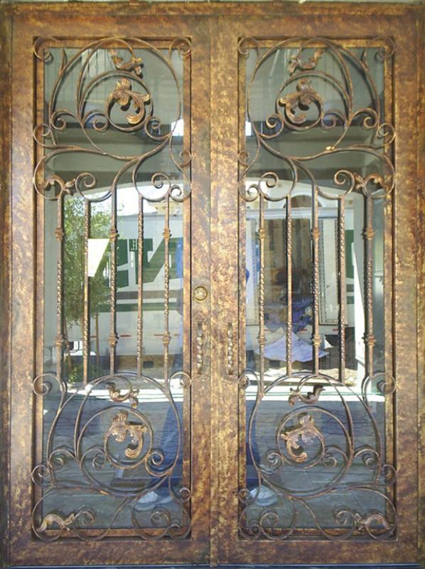 Scrollwork Front Door - Item Pianna GE0015 Wrought Iron Design In Las Vegas