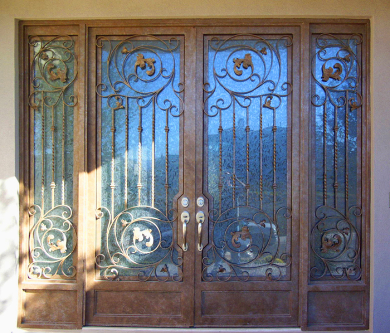 Scrollwork Front Door - Item Pianna GE0015A Wrought Iron Design In Las Vegas