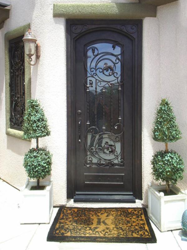 Scrollwork Front Door - Item Pianna GE0015B Wrought Iron Design In Las Vegas