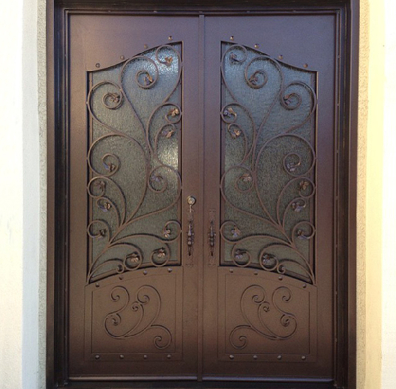 Scrollwork Front Door - Item Prague GE0177 Wrought Iron Design In Las Vegas