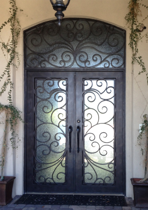 Scrollwork Front Door - Item Ricci GE0099 Wrought Iron Design In Las Vegas