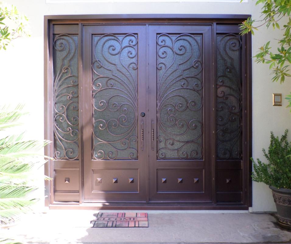 Scrollwork Front Door - Item Ricci GE0141 Wrought Iron Design In Las Vegas