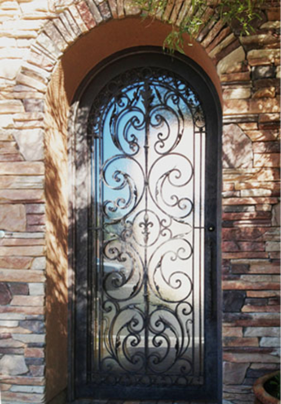 Scrollwork Front Door - Item Toulouse GE0126 Wrought Iron Design In Las Vegas