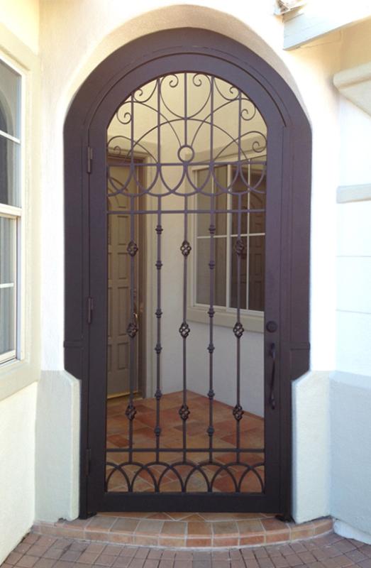 Scrollwork Jalisco Entryway Door - Item EW0395 Wrought Iron Design In Las Vegas