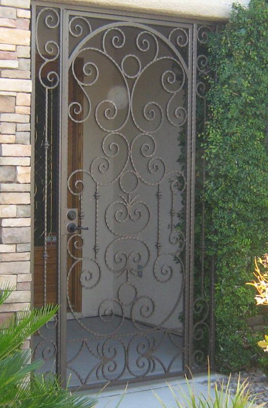 Scrollwork Monaco Entryway Door - Item EW0087 Wrought Iron Design In Las Vegas