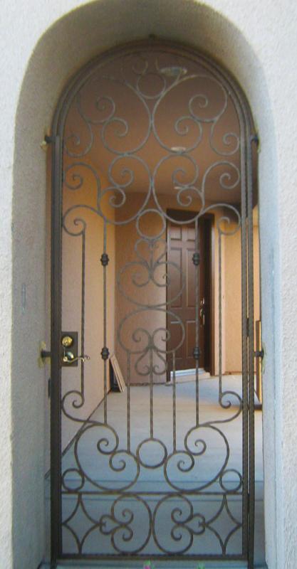 Scrollwork Monaco Entryway Door - Item EW0087A Wrought Iron Design In Las Vegas