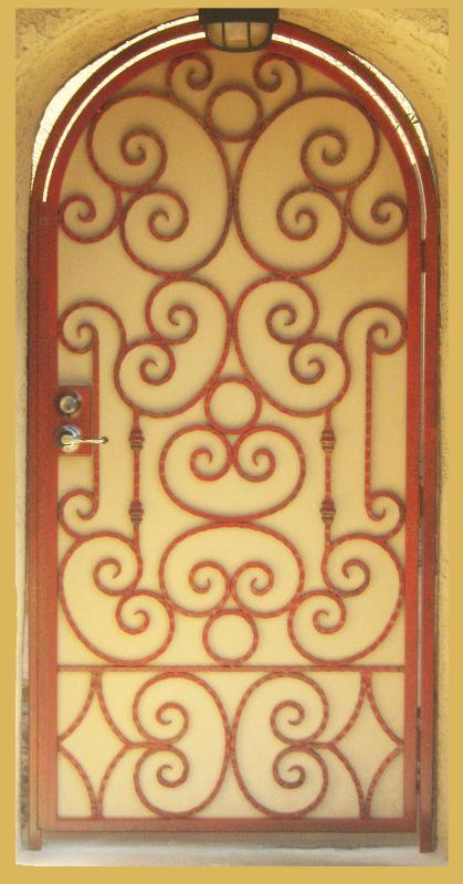 Scrollwork Monaco Entryway Door - Item EW0133 Wrought Iron Design In Las Vegas