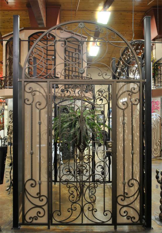 Scrollwork Papillion Entryway Door - Item EW0346 Wrought Iron Design In Las Vegas