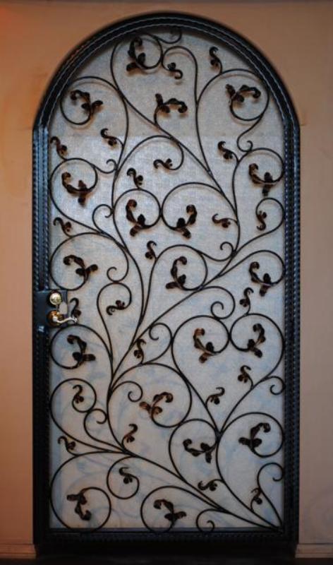 Scrollwork Portini Entryway Door - Item EW0162 Wrought Iron Design In Las Vegas