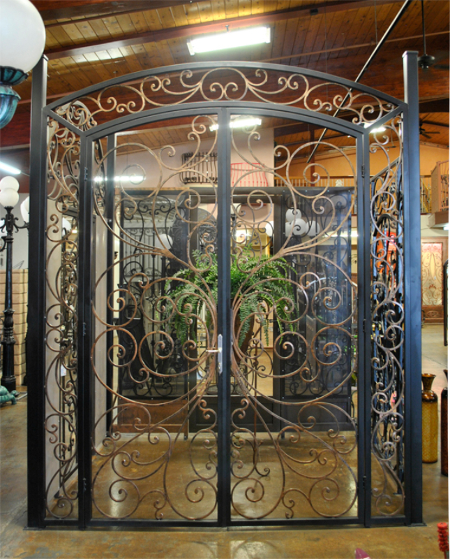 Scrollwork Ricci Entryway Door - Item EW0347 Wrought Iron Design In Las Vegas