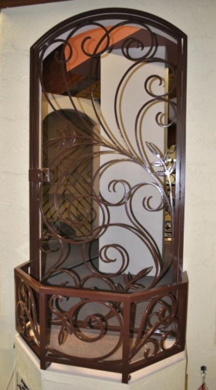 Scrollwork Security Door - Item Bellezza SD0241SR Wrought Iron Design In Las Vegas