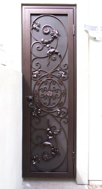 Scrollwork Security Door - Item Favela SD0183 Wrought Iron Design In Las Vegas