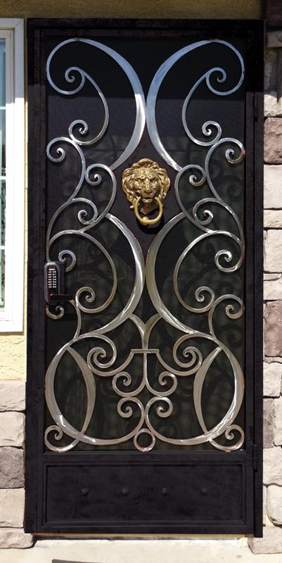 Scrollwork Security Door - Item Glasgow SD0132A Wrought Iron Design In Las Vegas