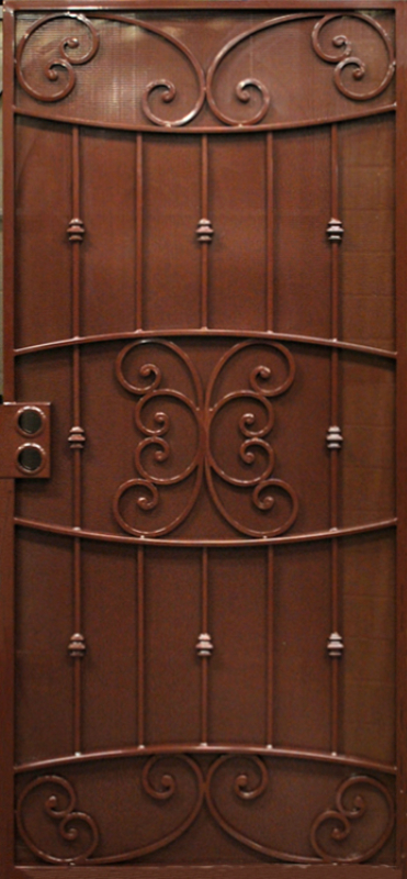 Scrollwork Security Door - Item Lyon SD0236 Wrought Iron Design In Las Vegas