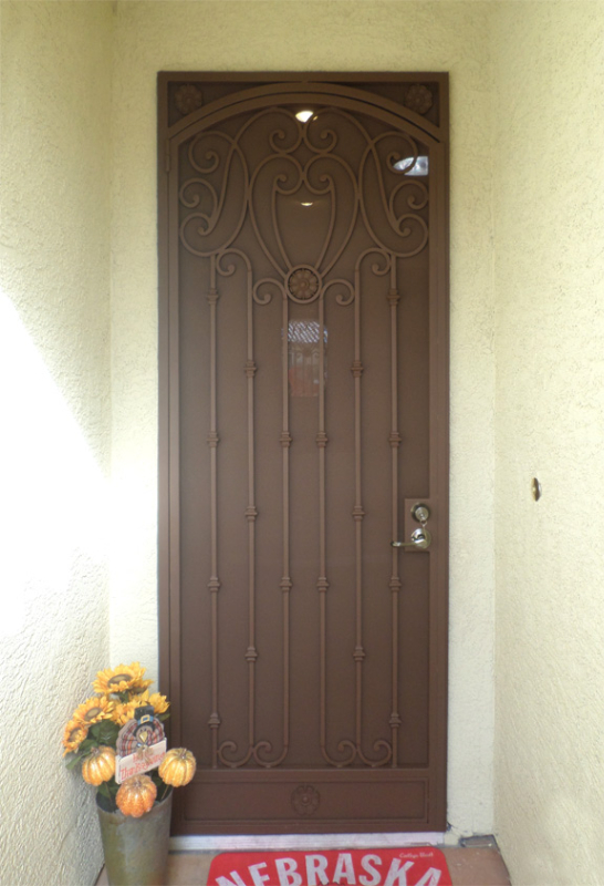 Scrollwork Security Door - Item Marseille SD0232 Wrought Iron Design In Las Vegas