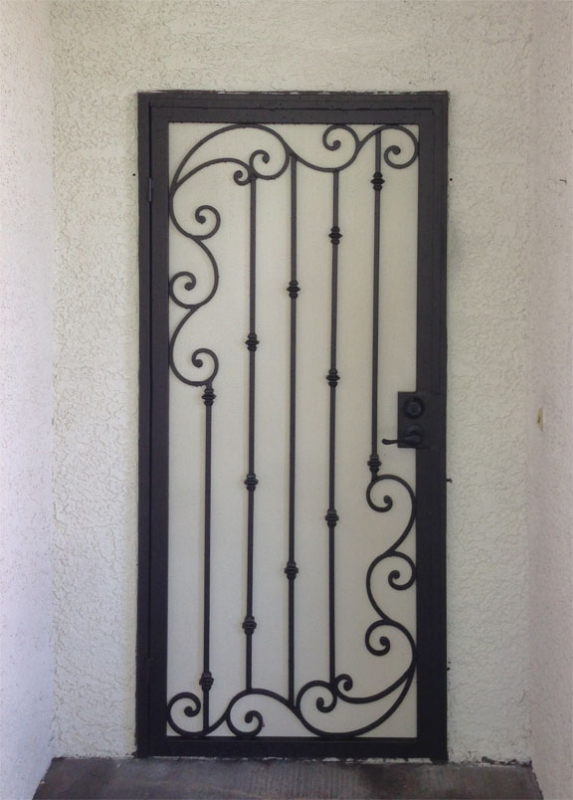 Scrollwork Security Door - Item Melodia SD0188A Wrought Iron Design In Las Vegas