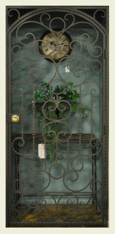 Scrollwork Security Door - Item Monaco SD0151 Wrought Iron Design In Las Vegas