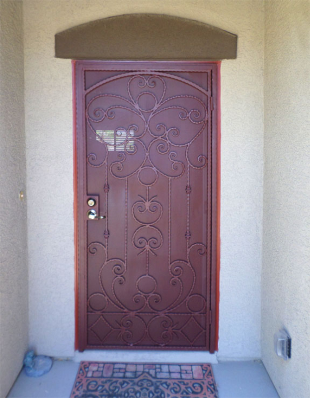 Scrollwork Security Door - Item Monaco SD0198 Wrought Iron Design In Las Vegas