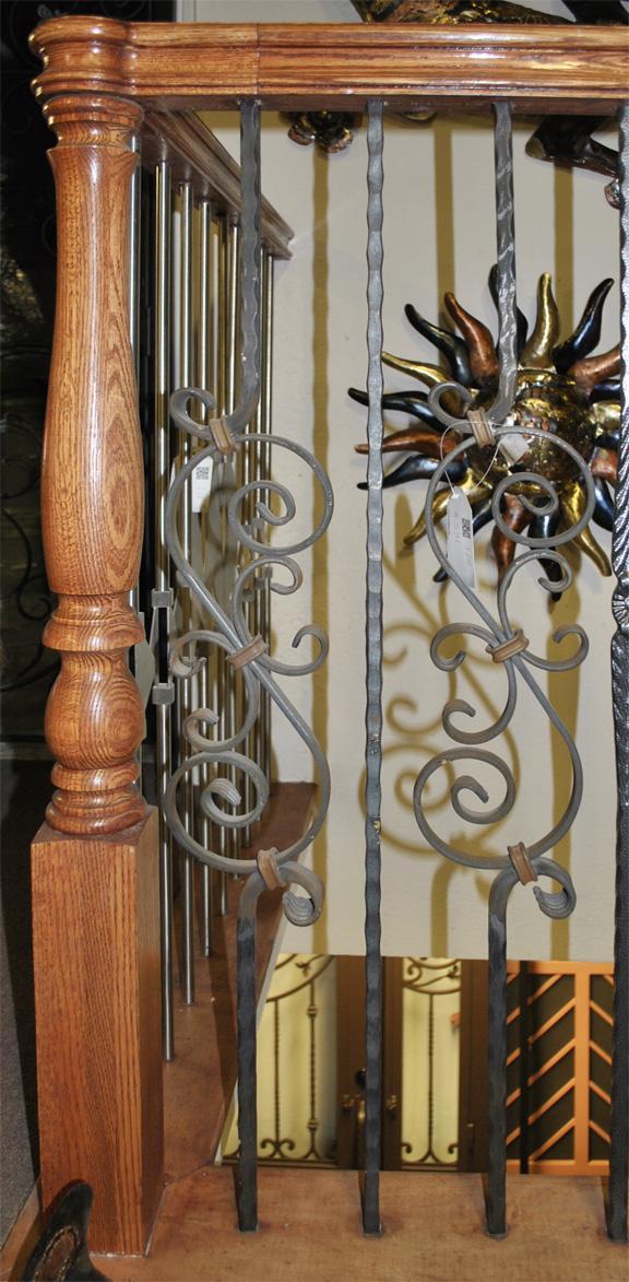 Scrollwork-Interior Railing-Item IR0217 Wrought Iron Design In Las Vegas