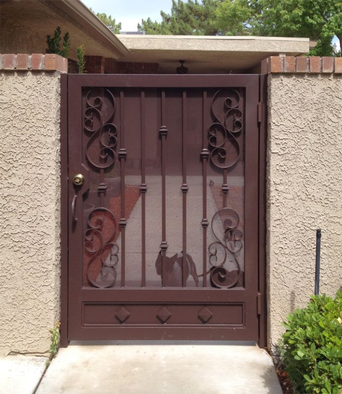 Traditional Single Gate - Item Serene SG0478 Wrought Iron Design In Las Vegas