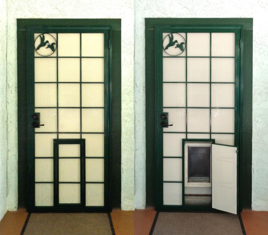 Solar Style Security Screen Door - Item SD0005A Wrought Iron Design In Las Vegas