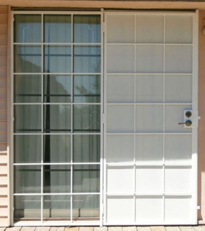 Solar Style Security Screen Double Door - Item DD0005 Wrought Iron Design In Las Vegas