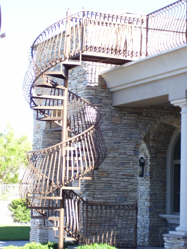 Spiral Stairs - Item SS0005 Wrought Iron Design In Las Vegas