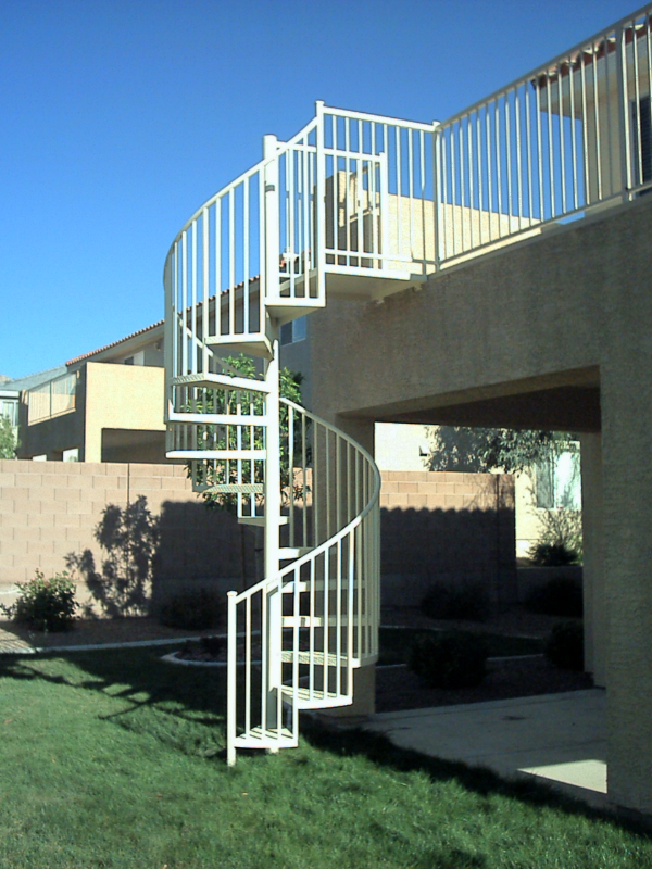 Spiral Stairs - Item SS0008 Wrought Iron Design In Las Vegas
