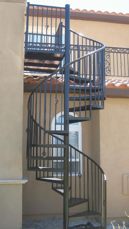 Spiral Stairs - Item SS0014 Wrought Iron Design In Las Vegas