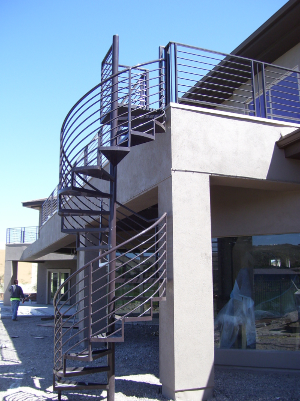 Spiral Stairs - Item SS0022 Wrought Iron Design In Las Vegas