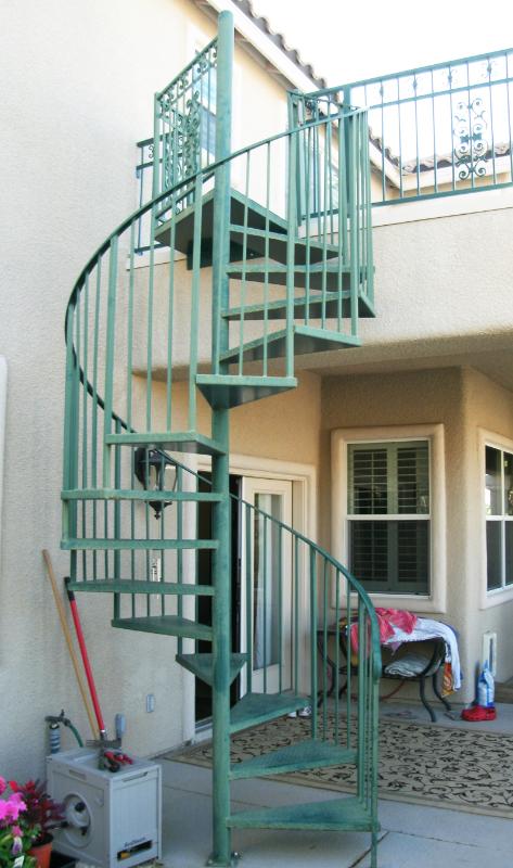 Spiral Stairs - Item SS0025 Wrought Iron Design In Las Vegas