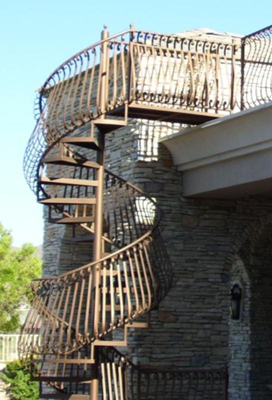 Spiral Stairs - Item SS0028 Wrought Iron Design In Las Vegas
