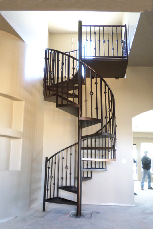 Spiral Stairs - Item SS0037 Wrought Iron Design In Las Vegas